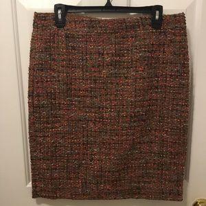 J Crew Pencil Tweed Skirt
